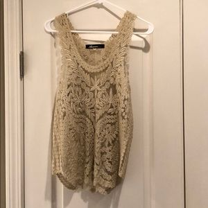 Gold Lace Tank Top // Size M